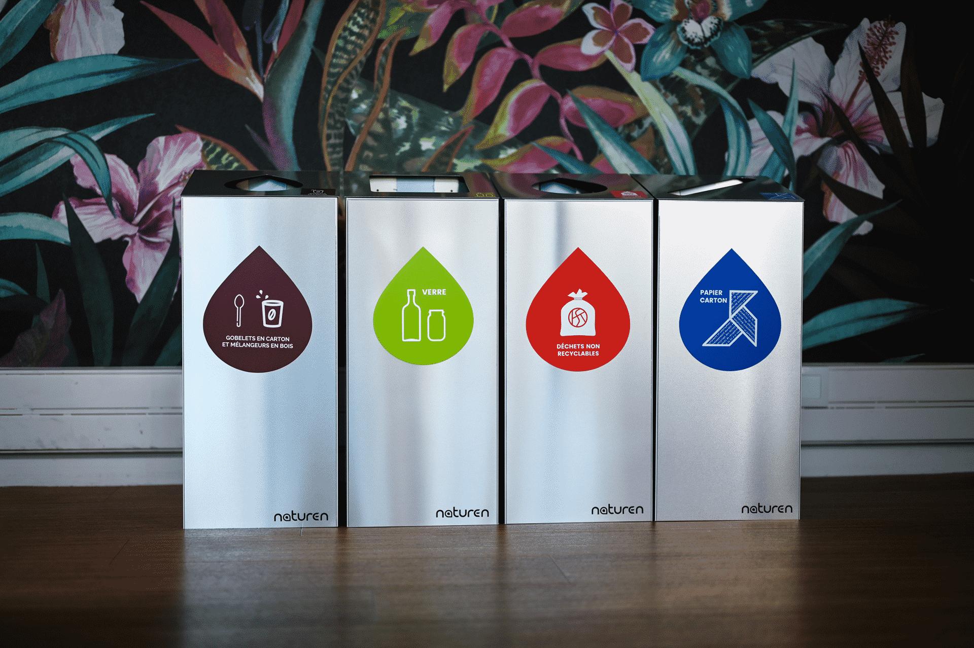 Tri Uno : Poubelle de tri modulable design pour entreprise