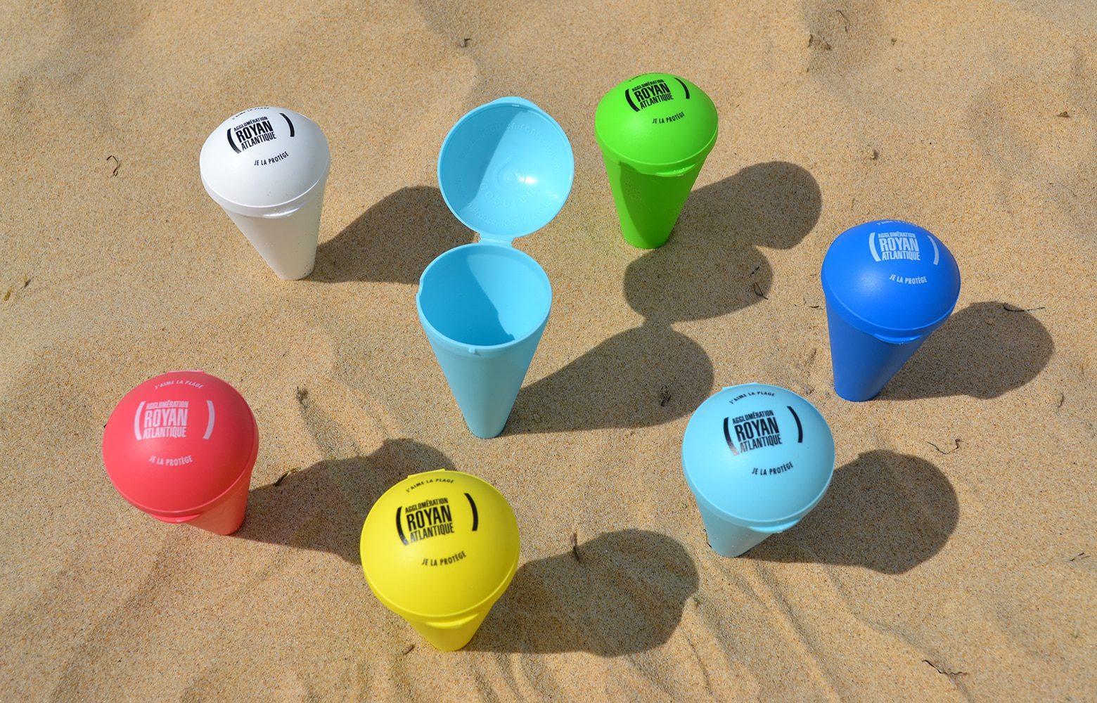 Cendrier de plage conique et personnalisable