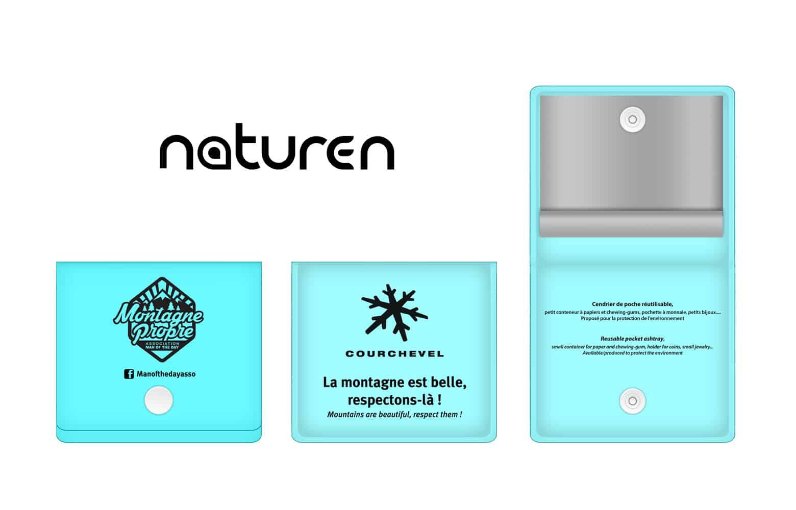 Cendrier de poche personnalisable - Naturen