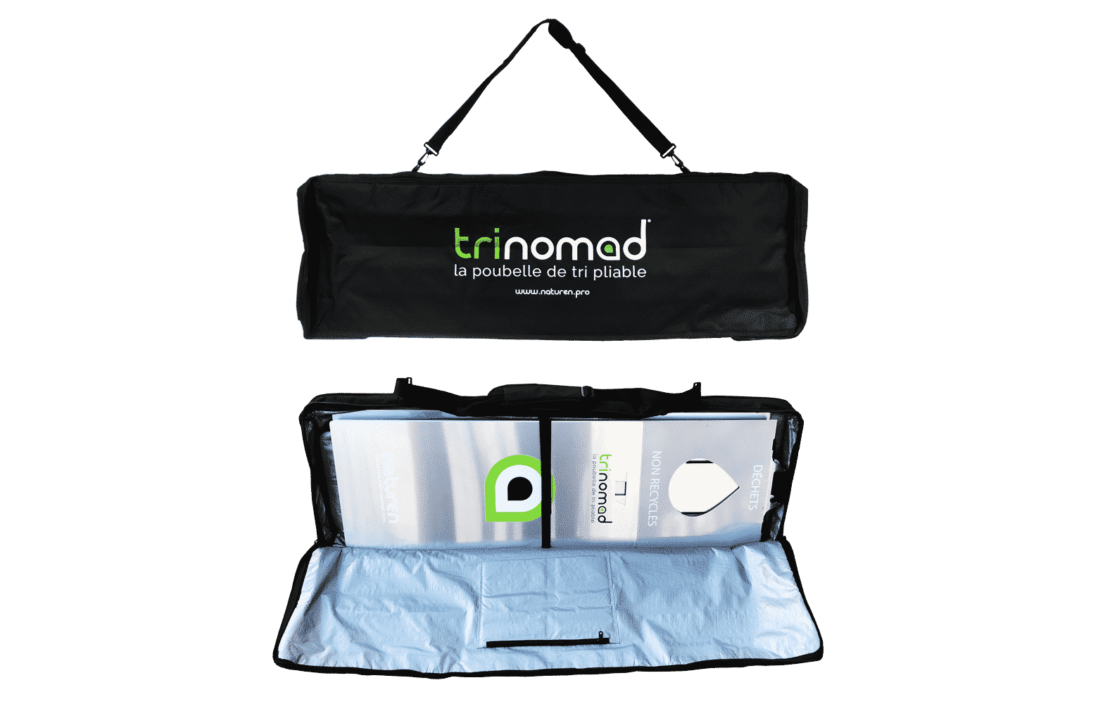 trinomad collapsible sorting bin bag
