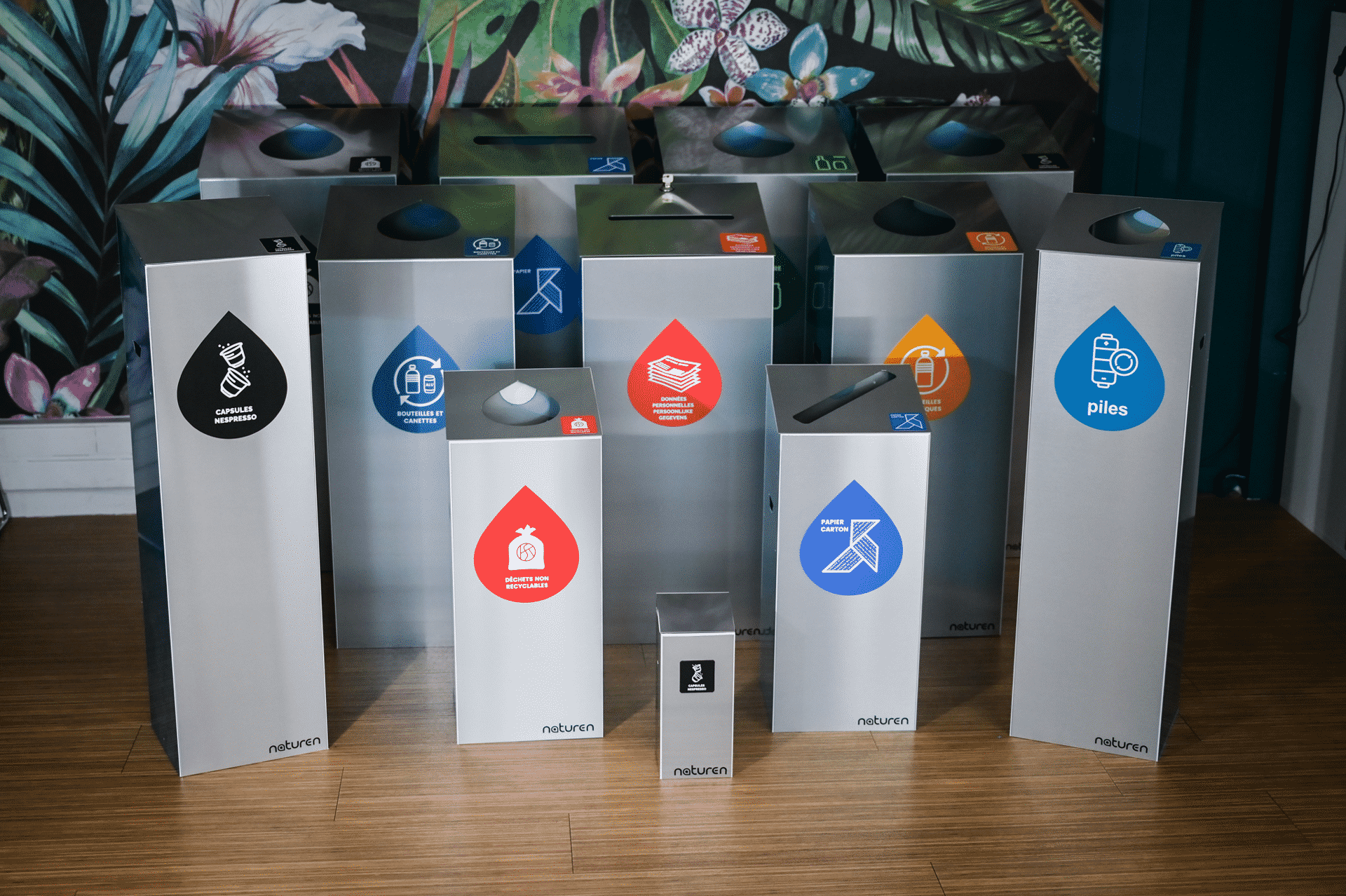 Gamme Tri Uno : Poubelle de tri modulable design pour entreprise