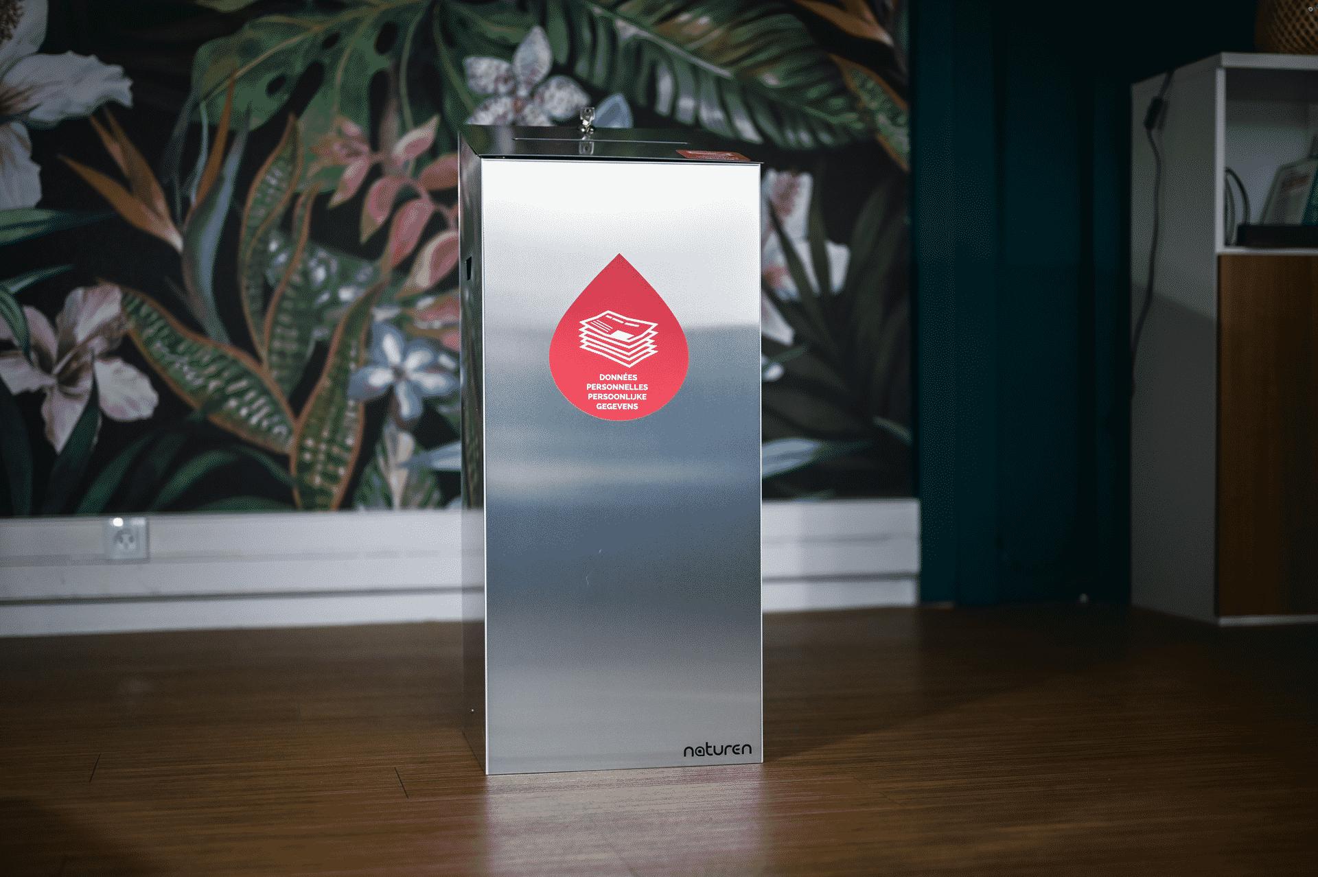 Tri Uno Confidentielle : Poubelle de tri design pour les documents confidentiels